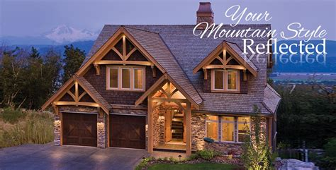 mountain style timber homes