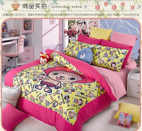 kids bedding designer bed setsone piece anime comforter