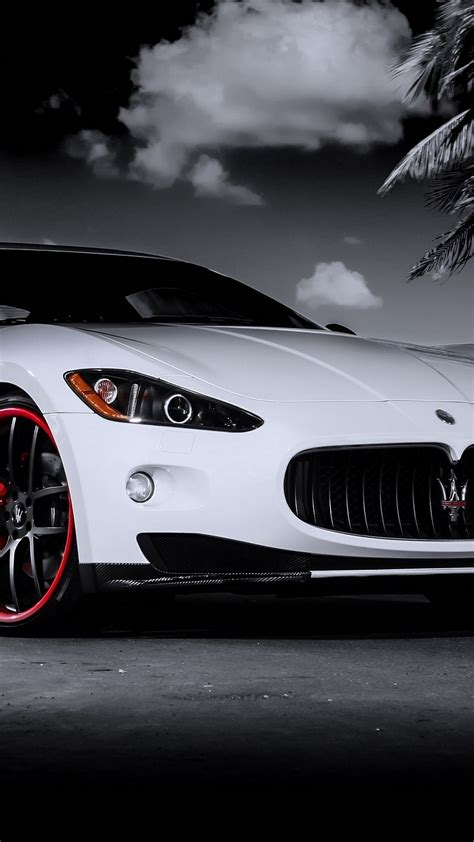 white maserati wallpaper maserati granturismo white red rims iphone 6 plus hd