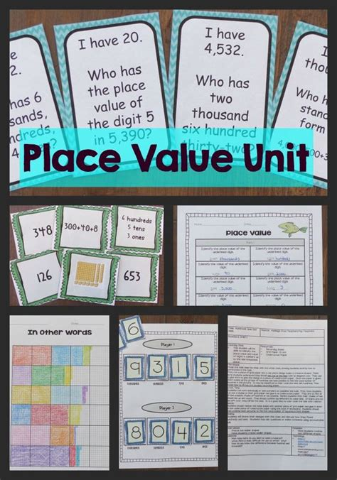 free printable lesson plans place value this place value unit has everything you need to teach