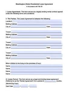 free washington residential lease agreement pdf word