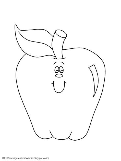 gambar mewarnai buah apel untuk anak paud dan tk aneka gambar mewarnai