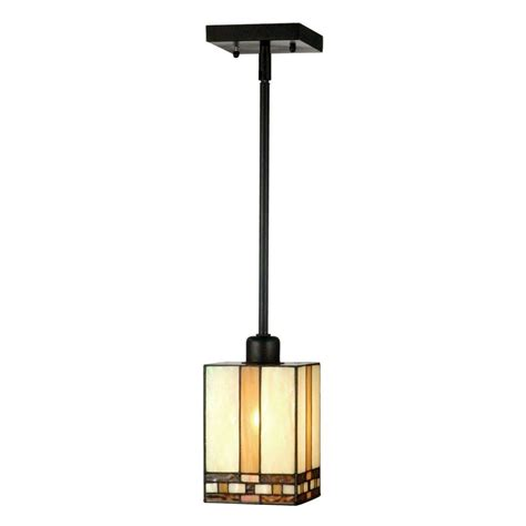 Springdale Lighting Mission 1 Light Antique Bronze Hanging Mini Pendant Lamp STH11006 The Home