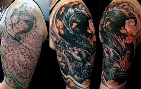 tattoo cover up dragon 50 tattoo cover up sleeve design ideas for men manly ink