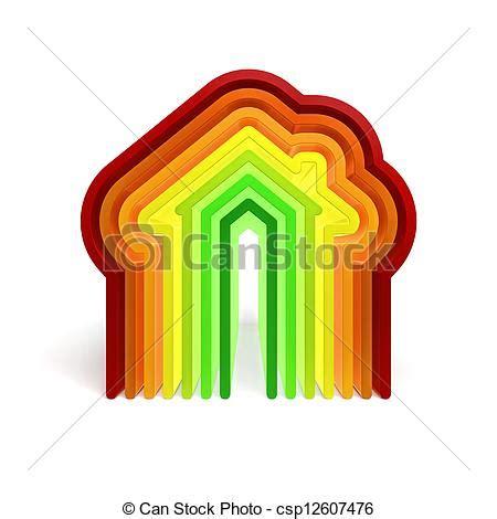 energy saving house energy saving house 3d illustration of energy house