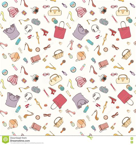 pattern fashion vector fashion cosmetic pattern cartoon vector cartoondealer