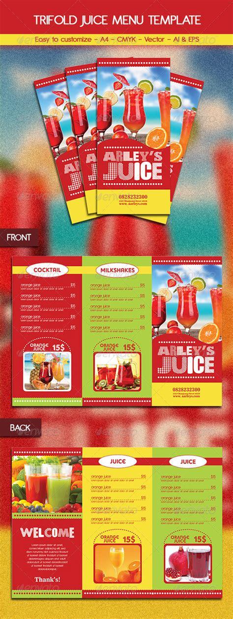 Juice Menu Mockup 187 Tinkytyler Org Stock Photos Graphics Juice Menu Template