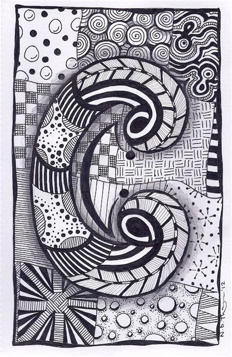 name pattern in c zentangle letter c zebra letters name bunting por