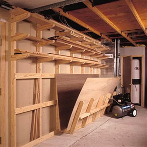 Shop Storage Plans by Lumber Storage Rack Woodworking Plan From Wood Magazine