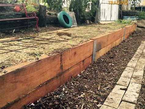 landscaping hardwood sleepers untreated for sale in
