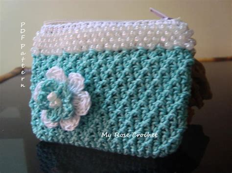 how to make a beaded purse crochet change purse pattern creatys for