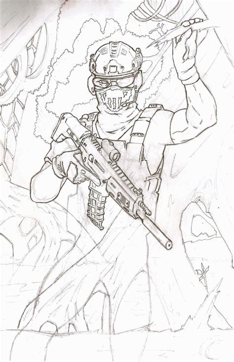 ghost recon coloring pages ghost recon fs sketch by toziren on deviantart