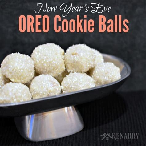 new year treat recipe oreo cookie balls sparkly treat for new year s