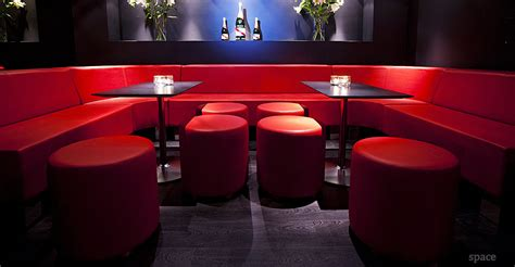 nightclub couches bar seating modular sofa red booth low back