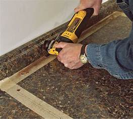How To Cut Kitchen Countertop For Sink by Cut A Laminate Countertop For A Sink