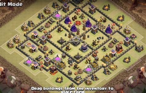 layout coc th9 anti giant anti valkyrie tactics base designs for th9 to th11