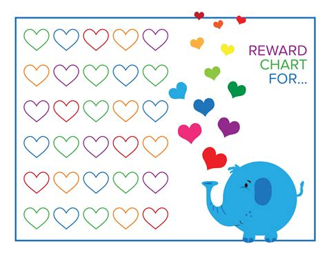 printable toddler reward chart reward chart loving printable