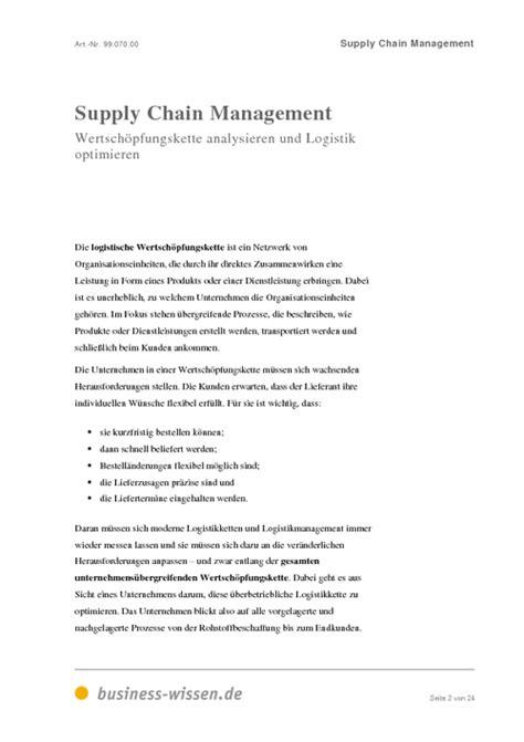 Anschreiben Praktikum Supply Chain Management Supply Chain Management Management Handbuch Business Wissen De
