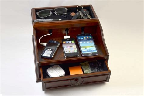 charging station charging station mahogany wood finish bonjourlife
