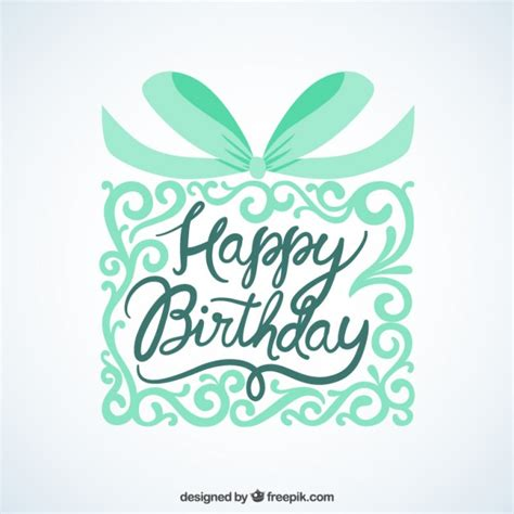 happy birthday gift card design happy birthday card with ornamental gift vector free