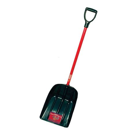 bully tools mulch snow scoop with fiberglass d grip handle