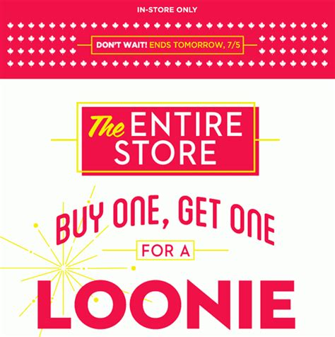 old navy coupons in store canada old navy canada offers buy one get one for a loonie quot the