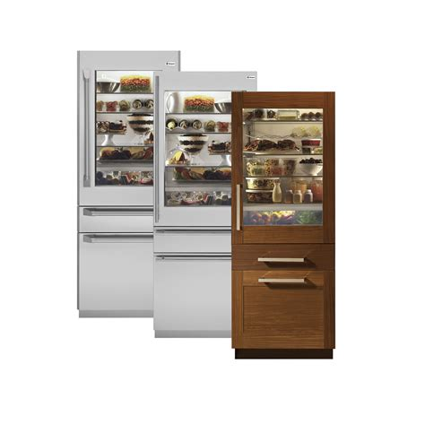 glass front door refrigerator monogram 30 quot integrated glass door refrigerator with