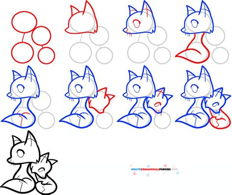 drawing images for kids animals for kids how to draw a fox for kids dog breeds