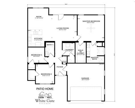 patio floor plans patio home floor plans greenland modeled new home floor