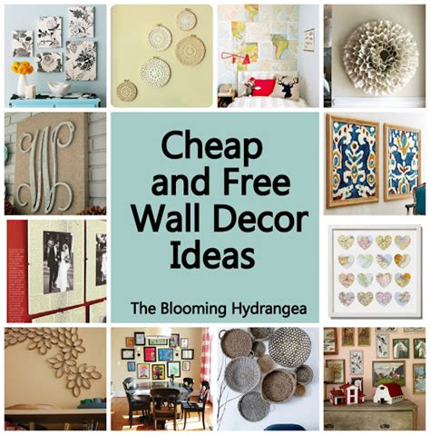 decorating ideas for walls cheap free wall decor ideas roundup