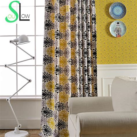black yellow curtains online buy wholesale black yellow curtains from china