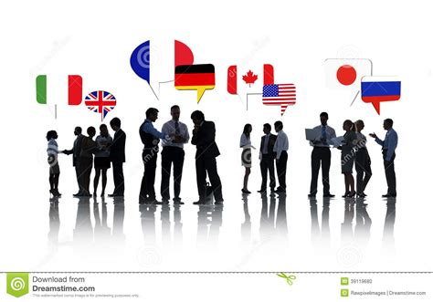 International Mba by International Business Talking Stock Photo Image