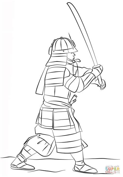samurai ninja coloring pages disegno di samurai armato con spada da colorare disegni