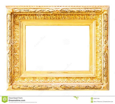 picture frame luxury gilded frame white stock image image of