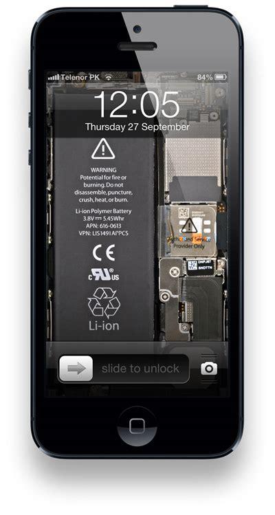 hintergrundbild wallpaper zeigt iphone  innenleben