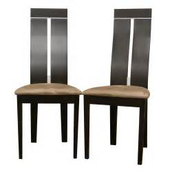High Seat Dining Chairs Black Wooden Chair With Fabric Seat Plus High Brown Wooden Back Placed On The White