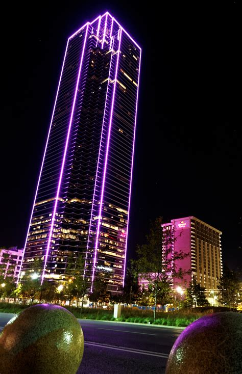 Charming Christmas Lights Dallas #3: Bank_of_America_Plaza_%28Dallas%29_night_purple.jpg