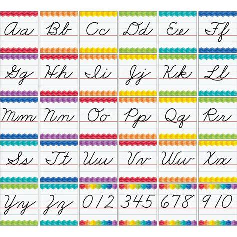 Letter Home Decor Painted Palette Cursive Handwriting Alphabet Bulletin