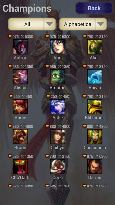 like league of legends for android league of legends chions android apps auf play