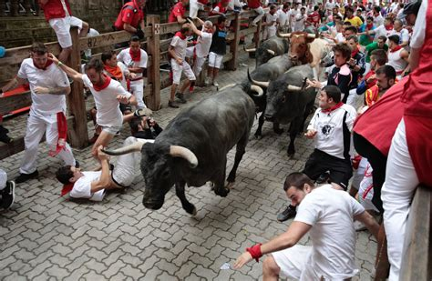 Running With The Bulls 2 gored in plona s second bull run of 2017