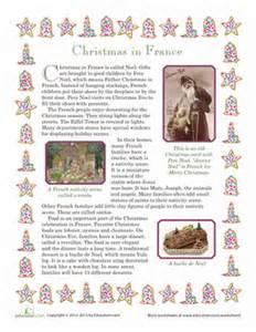 christmas in france worksheet education com