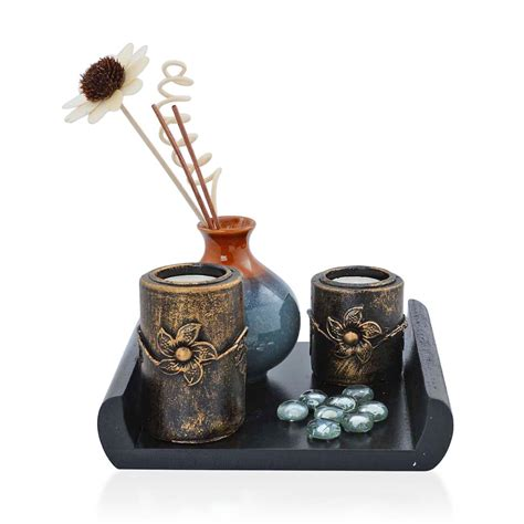 ceramic home decor blue ceramic oil diffuser set home decor accessories