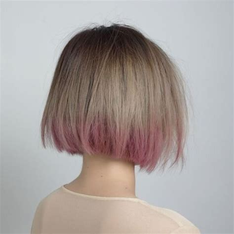 long bob with dipped ends hair 17 best ideas about pink dip dye on pinterest colored
