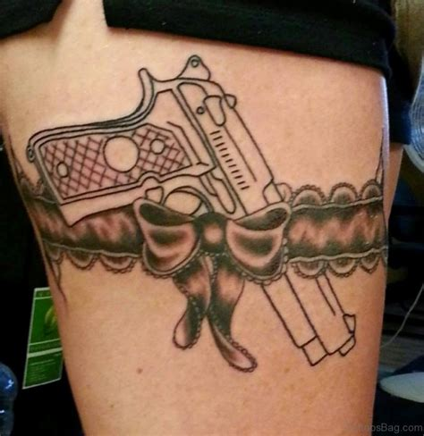 handgun tattoo designs 72 brilliant gun tattoos design on thigh