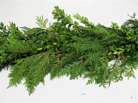 cedar garland artificial fresh garlands