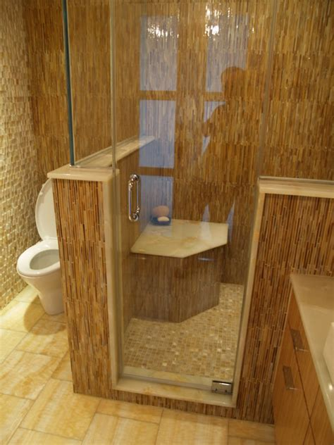 Steam Shower Bathroom Designs Master Bath Steam Shower Seat Contemporary Bathroom New York By Falk Designs Llc