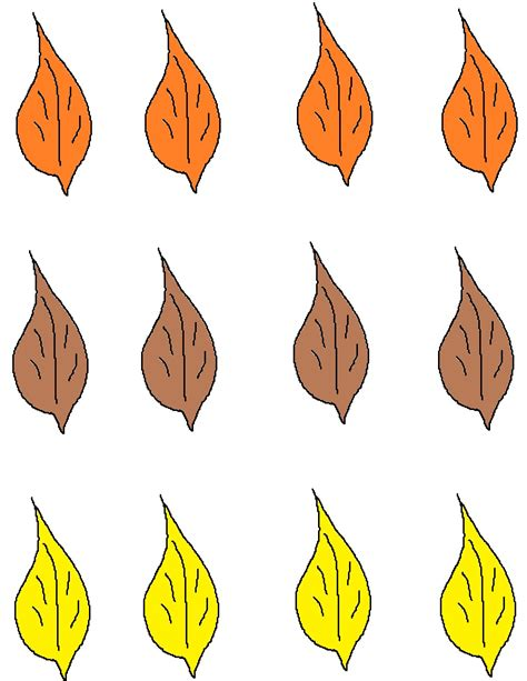 printable colored leaves fall leaves card
