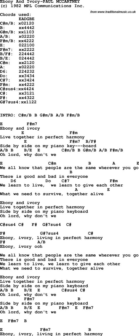song paul mccartney lyrics protest song and ivory paul mccartney lyrics and