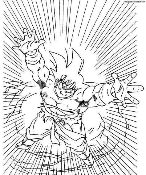 imagenes de goku haciendo la genkidama para colorear dibujos de goku dragonball z para colorear