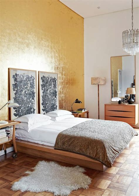 gold bedroom walls this is the newest accent wall trend and it s major